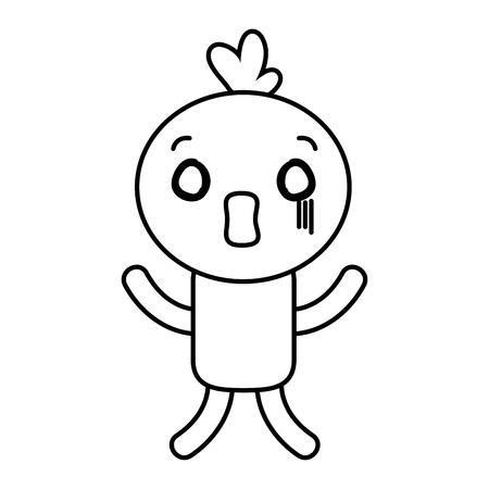 cartoon doll scare character vector illustration