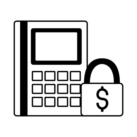 financial calculator money security business vector illustration Çizim