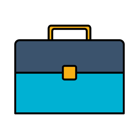 business suitcase portfolio on white background vector illustration  イラスト・ベクター素材