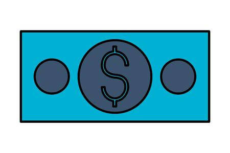 banknote money dollar on white background vector illustration Illustration