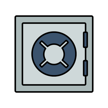 safe box money on white background vector illustration
