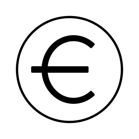 euro money symbol on white background vector illustration