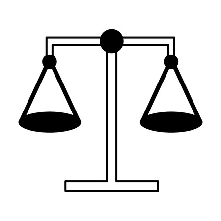 balance justice law on white background vector illustration