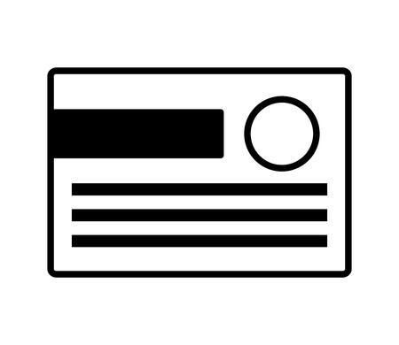 bank credit card on white background vector illustration Illustration