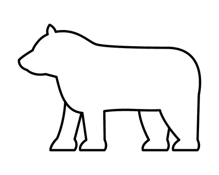 bear silhouette symbol on white background vector illustration Stock fotó - 117108812
