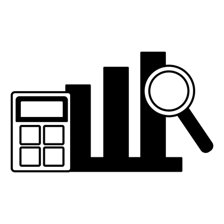 chart stock market calculator analysis vector illustration