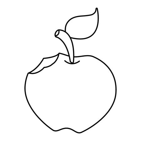 bitten apple fresh on white background vector illustration Vektorové ilustrace