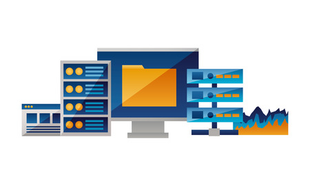 computer file database cpu report vector illustration Фото со стока - 125647832