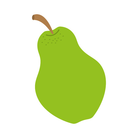 fresh fruit pear on white background vector illustration