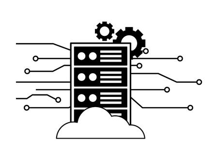 computer cpu settings circuit digital vector illustration