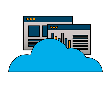 cloud computing storage website report vector illustration Фото со стока - 125647880