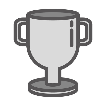 trophy award sign on white background vector illustration