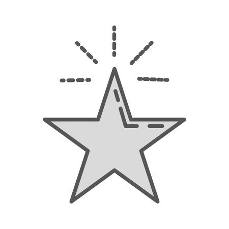star vintage retro on white backgorund vector illustration Иллюстрация