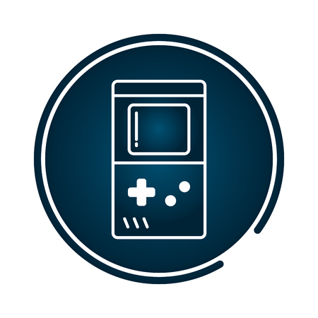 portable console retro video game vector illustration