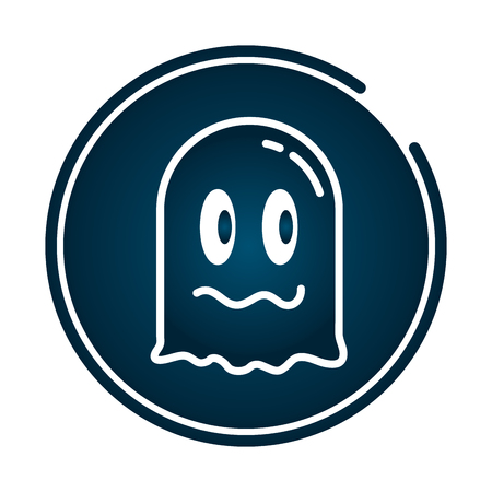 ghost avatar video game cartoon vector illustration