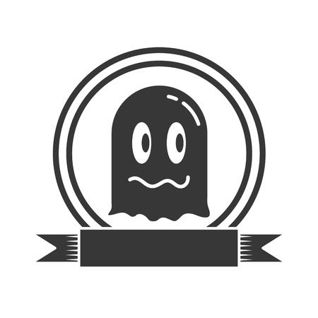ghost avatar video game cartoon vector illustration