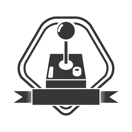 joystick video game on white background vector illustration 向量圖像
