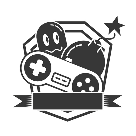 ghost control boom  video game vector illustration