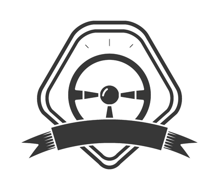 steering wheel car control on white background vector illustration Illustration