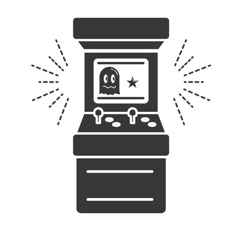 arcade machine control video game vector illustration Illustration