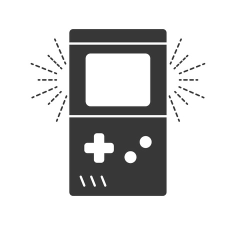 portable console retro video game vector illustration