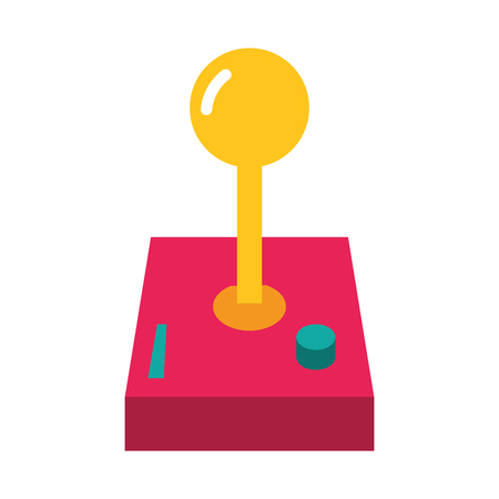 joystick video game on white background vector illustration Ilustração