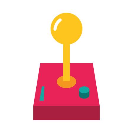 joystick video game on white background vector illustration Banco de Imagens - 125647938