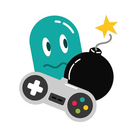 ghost control boom  video game vector illustration Фото со стока - 117113288