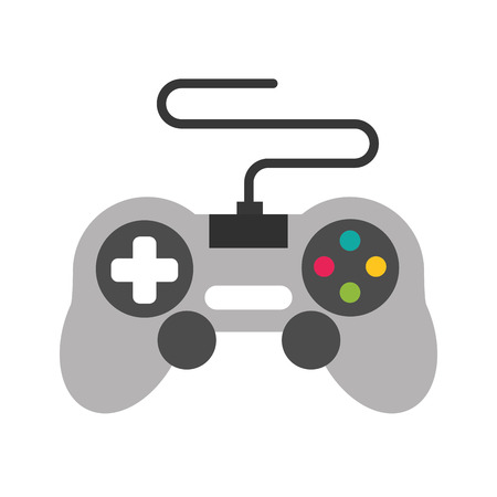 gamepad control device video game vector illustration 스톡 콘텐츠 - 125647946