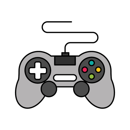 gamepad control device video game vector illustration 스톡 콘텐츠 - 125647948
