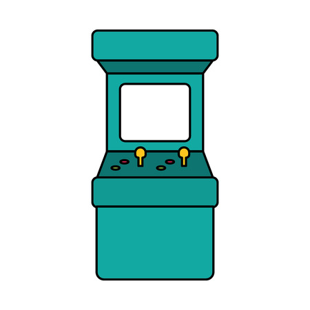 arcade machine control video game vector illustration Reklamní fotografie - 125647953