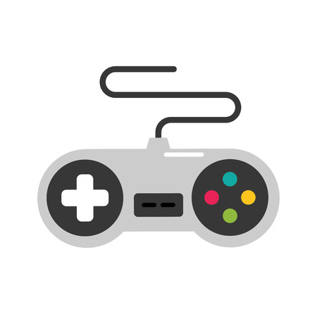 gamepad control device video game vector illustration