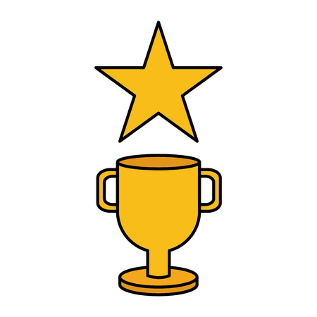 trophy star winner video game vector illustration