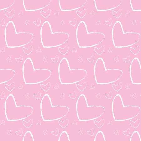 Grunge Herzen Hintergrund glücklich Valentinstag Vektor-Illustration