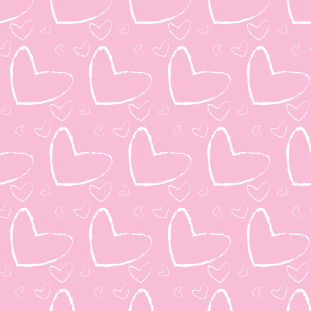 grunge hearts background happy valentines day vector illustration