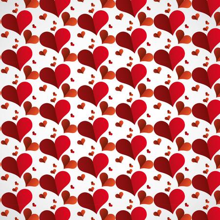 paper hearts background happy valentines day vector illustration Stock Illustratie