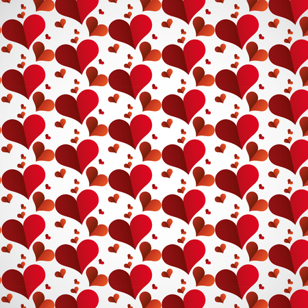 paper hearts background happy valentines day vector illustration Illustration