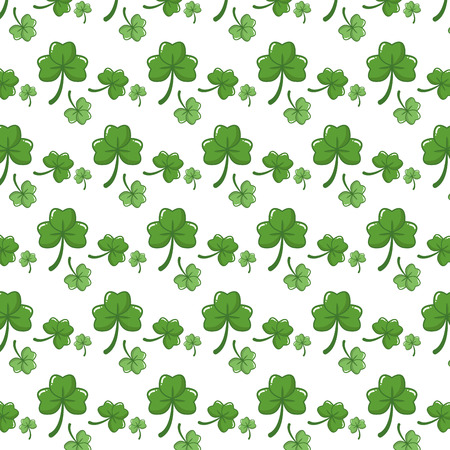 cute green clovers decoration background vector illustration