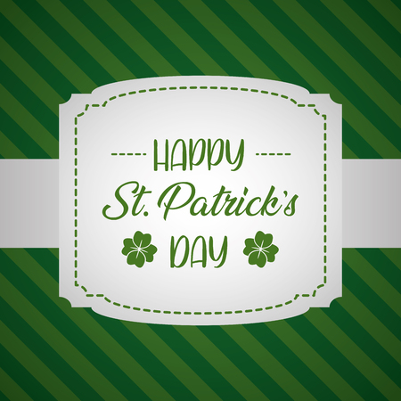 inscription stripes background happy st patricks day vector illustration