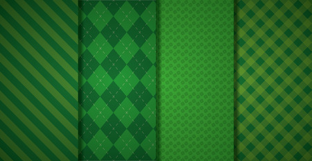 green banners checkered texture background vector illustration