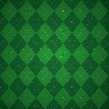 Ilustración de vector de fondo de tela a cuadros verde a cuadros