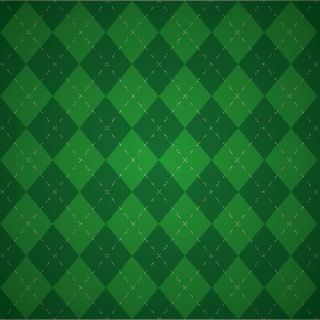 green plaid check cloth background vector illustration Illustration