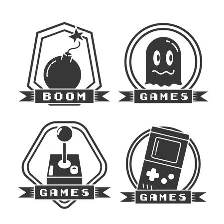 set of video game labels vector illustration Reklamní fotografie - 125596999