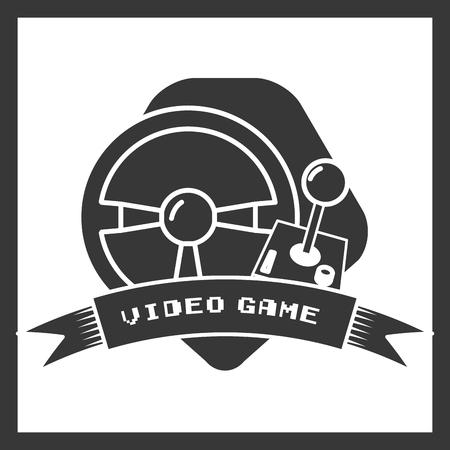 steering wheel joystick video game vector illustration