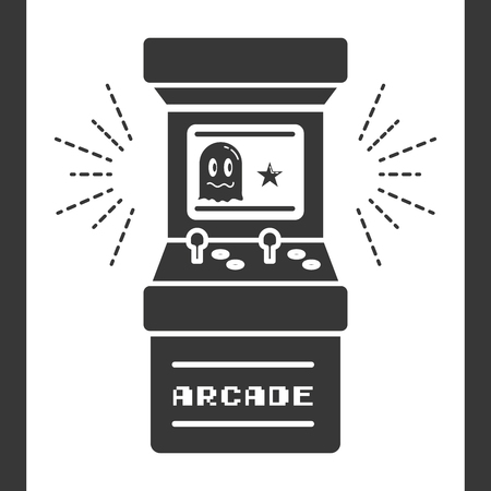 arcade machine control video game vector illustration Ilustrace