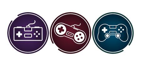 Videospiel-Controller-Gadgets setzen Vektorgrafik Vektorgrafik