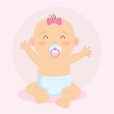 cute little baby character vector illustration design 版權商用圖片 - 125597085