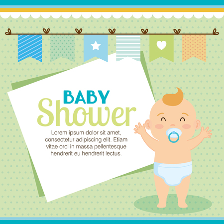 little baby shower card vector illustration design Illusztráció