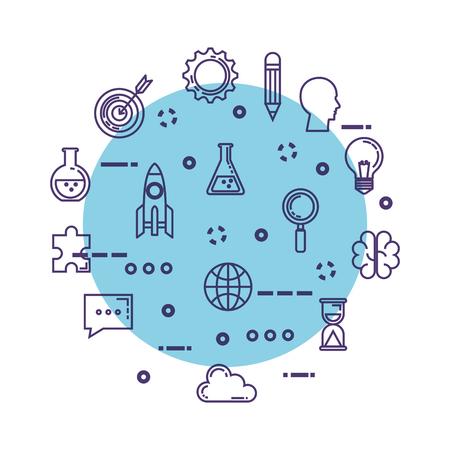 set of technological innovation icons vector illustration design