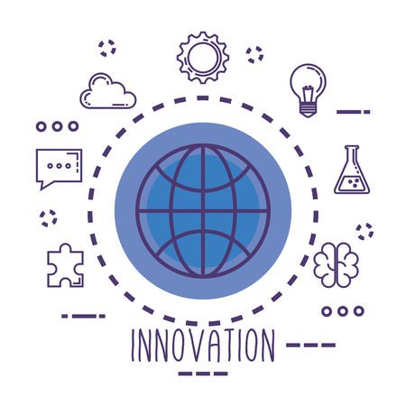sphere with innovation icons vector illustration design Stok Fotoğraf - 116297579
